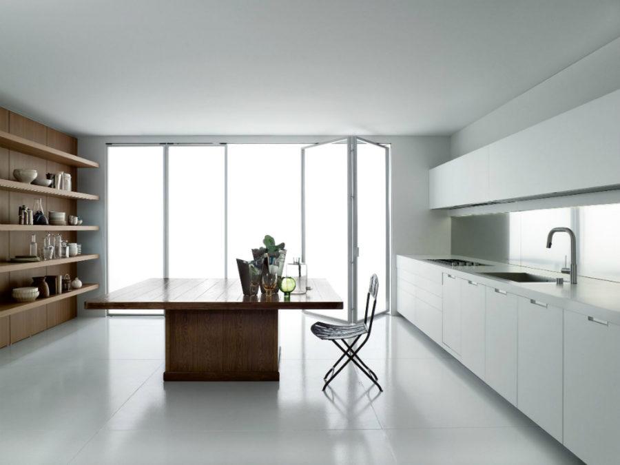 Современные дизайнерские кухни у вас дома - просторный стол-остров от Boffi
