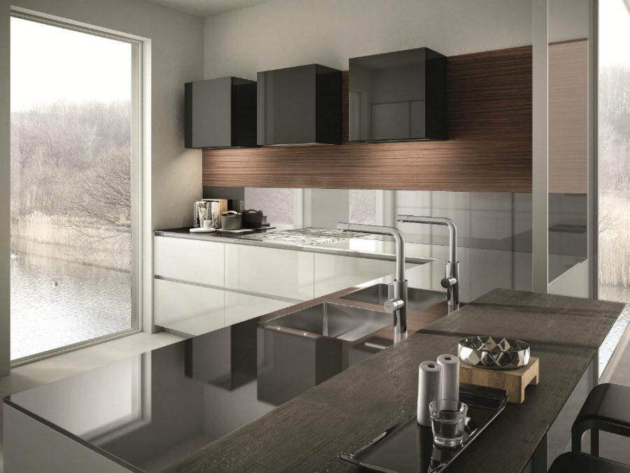 Современные дизайнерские кухни у вас дома - кухонный пенал от Aster Cucine