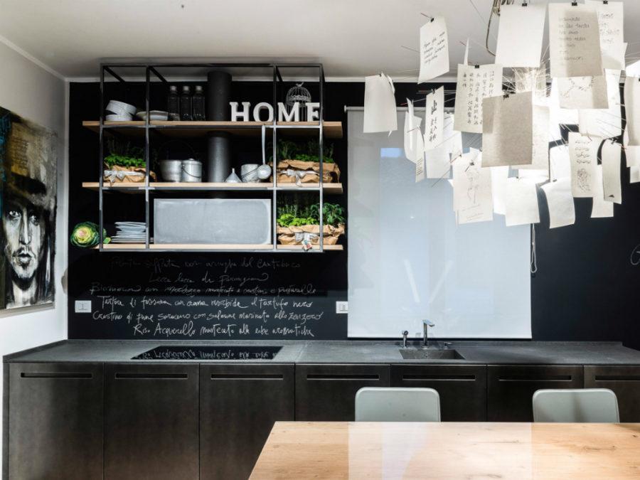 Современные дизайнерские кухни у вас дома - система полок от TM Italia Cucine