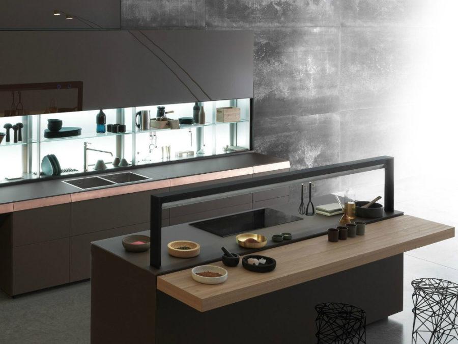 Современные дизайнерские кухни у вас дома - кухонный остров от Valcucine