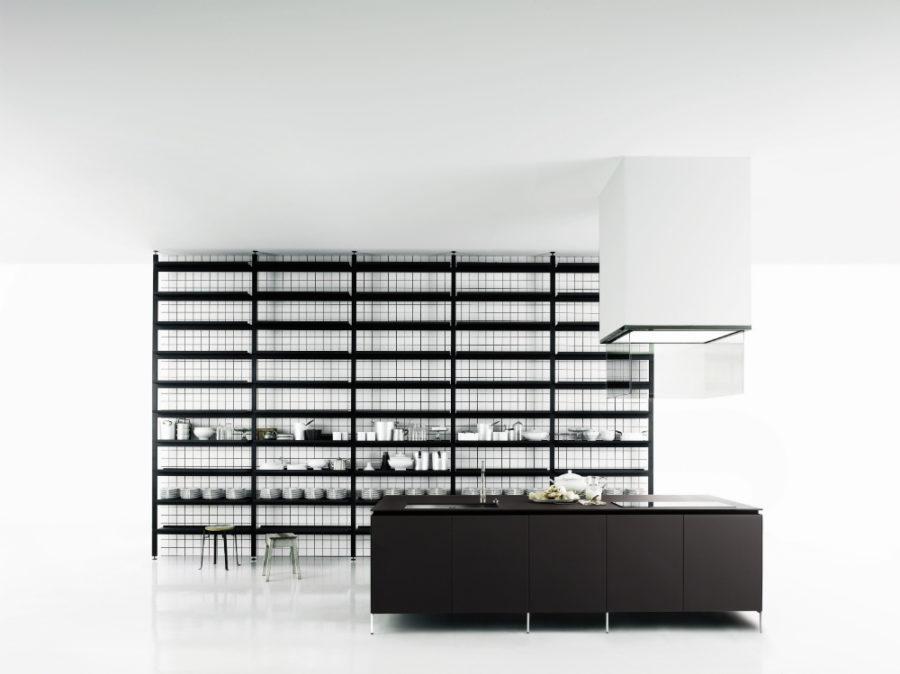 Современные дизайнерские кухни у вас дома - необычный дизайн в чёрном цвете