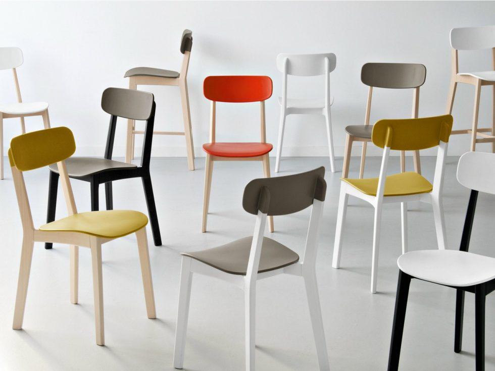 Cовременные кухонные стулья представлены в различной цветовой гамме