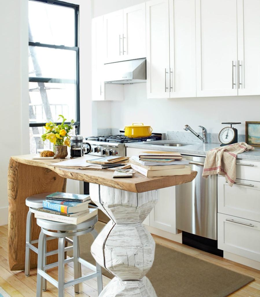 Современные тенденции в дизайне кухни в вашем доме - стол необычного дизайна