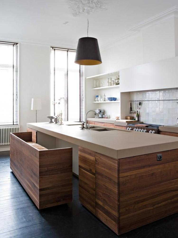 Современные тенденции в дизайне кухни в вашем доме - необычные места для сидения