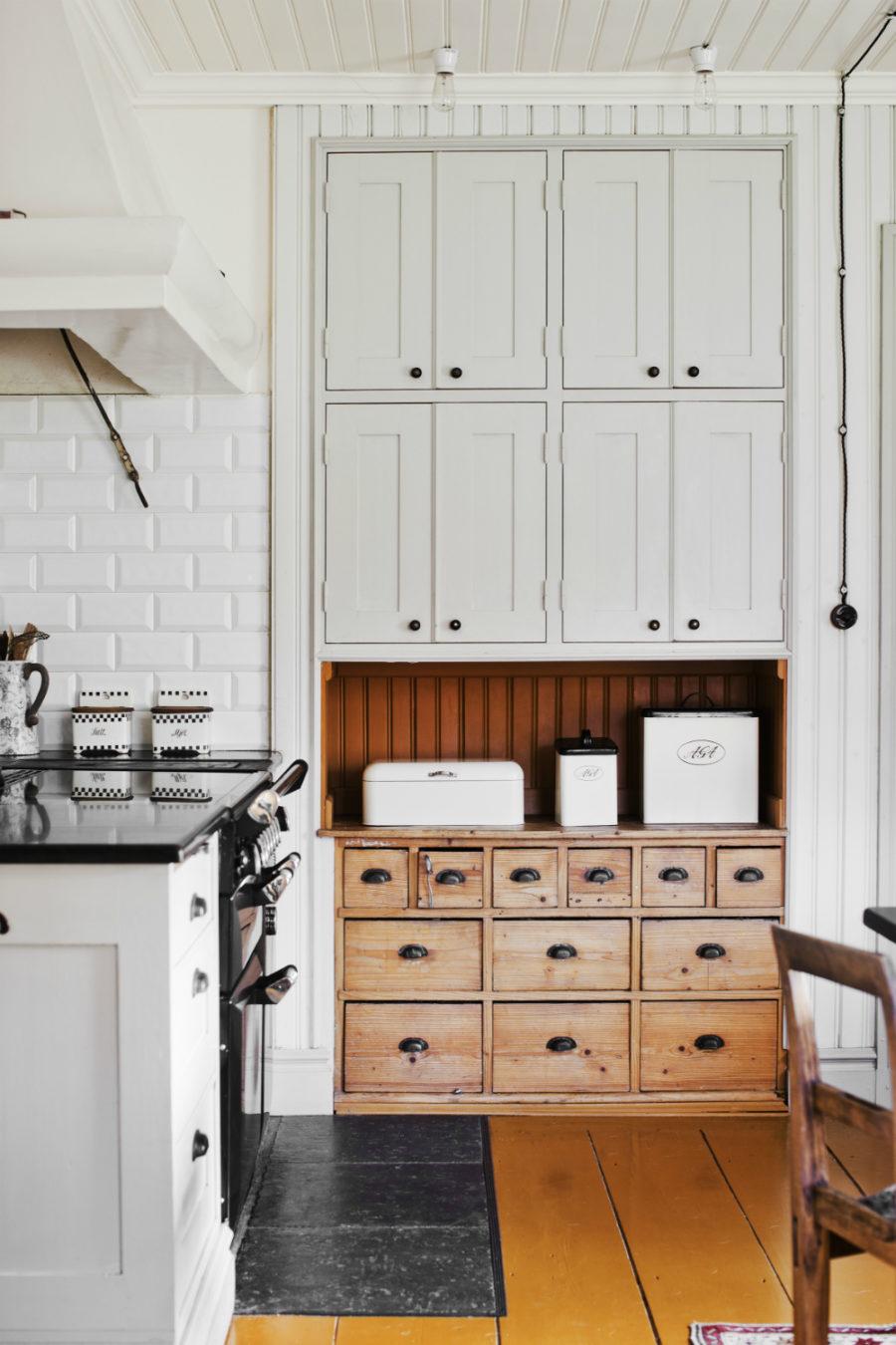 Современные тенденции в дизайне кухни в вашем доме - множество выдвижных ящиков