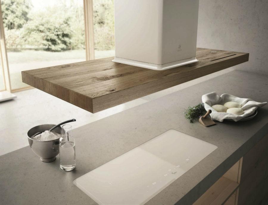 Современные тенденции в дизайне кухни в вашем доме - деревянная вытяжка