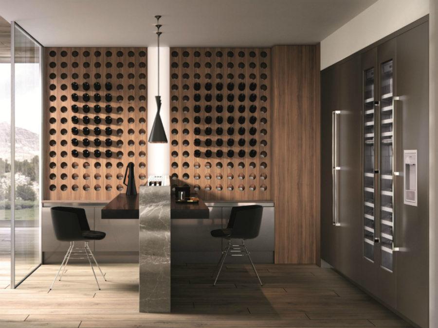 Современные тенденции в дизайне кухни в вашем доме - хранение вина