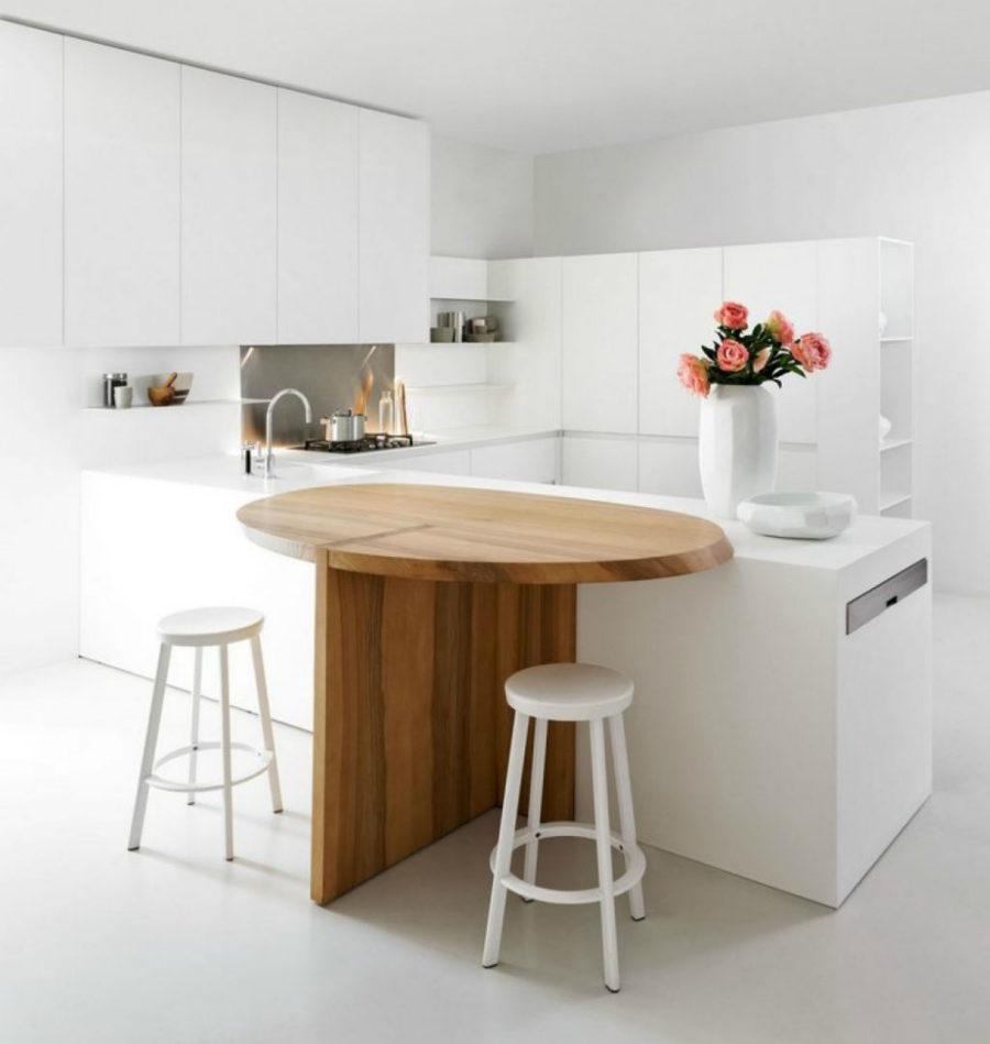 Современные тенденции в дизайне кухни в вашем доме -  расширяемый кухонный островок