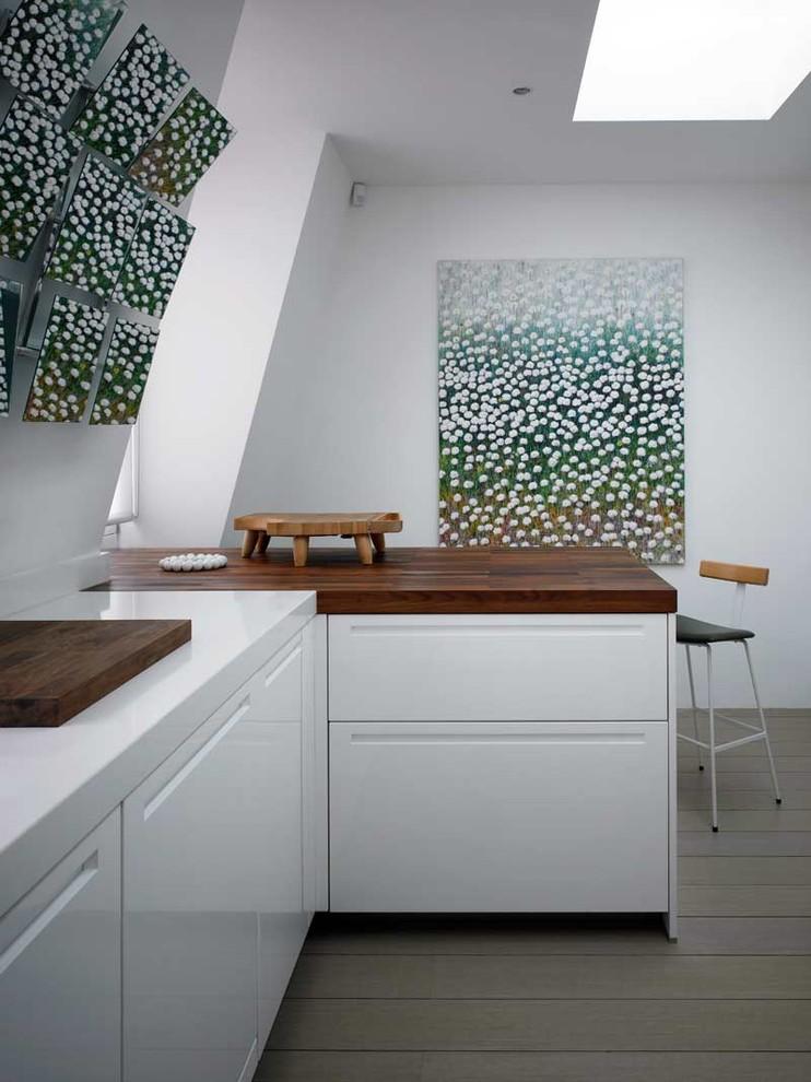 Оригинальное оформление столешницы из древесины от David Churchill - Architectural Photographer