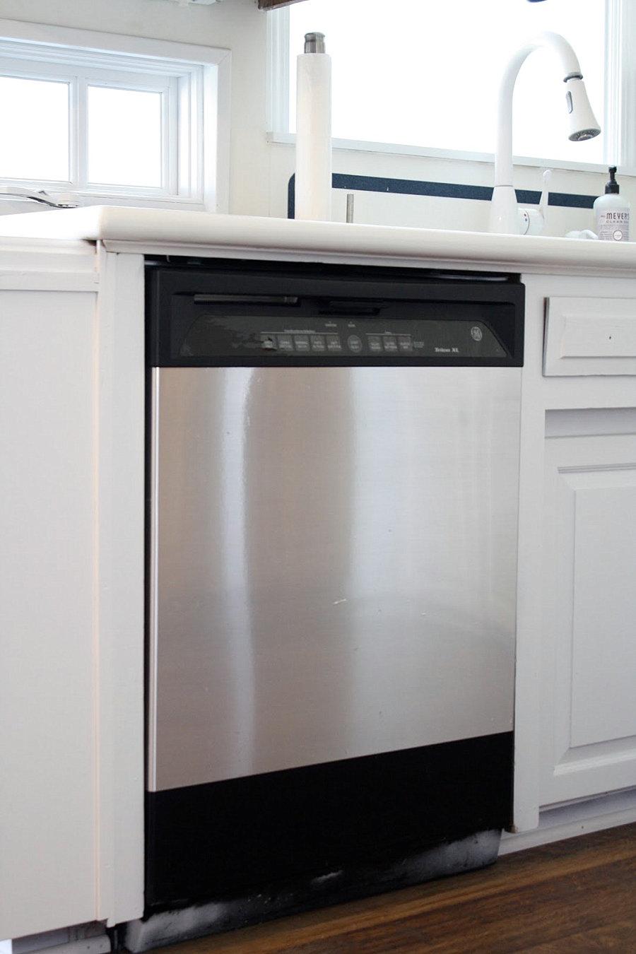 Кухонная техника, окрашенная под нержавеющую сталь