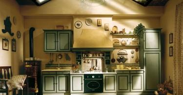 Шарм сельского быта и комфорт современного города объединяет стиль прованс на кухне