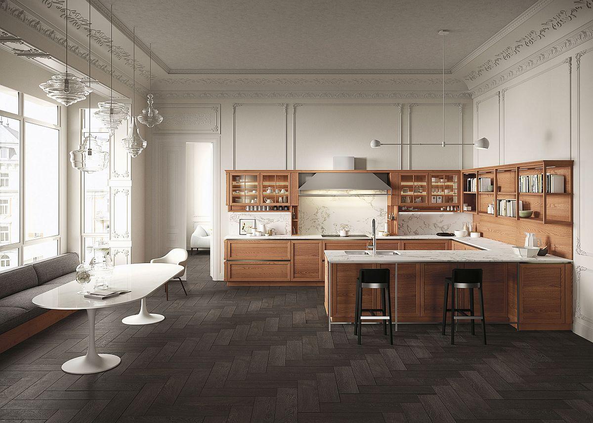 Элегантный и стильный дизайн интерьера кухни