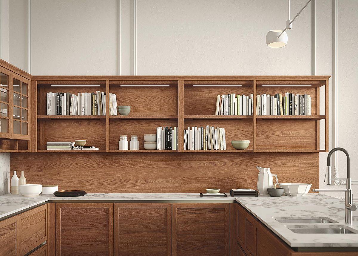 Потрясающий дизайн интерьера кухни, выполненный в спокойных тонах