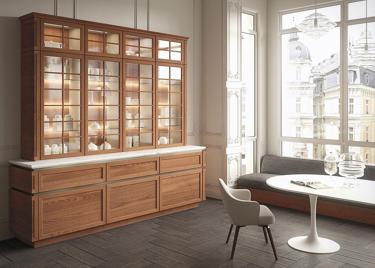 Интерьер кухни выполнен в едином стиле, сочетая в себе комфорт и уют