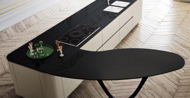 Стильный чёрный кухонный остров