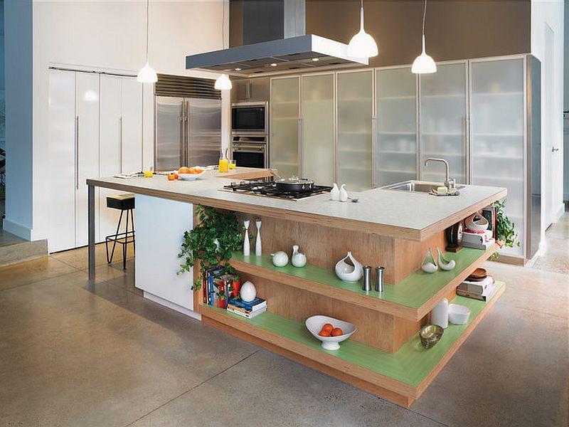 фото кухонный остров