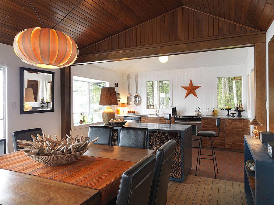 Стильный кухонный остров с открытыми полками в интерьере - Фото 13