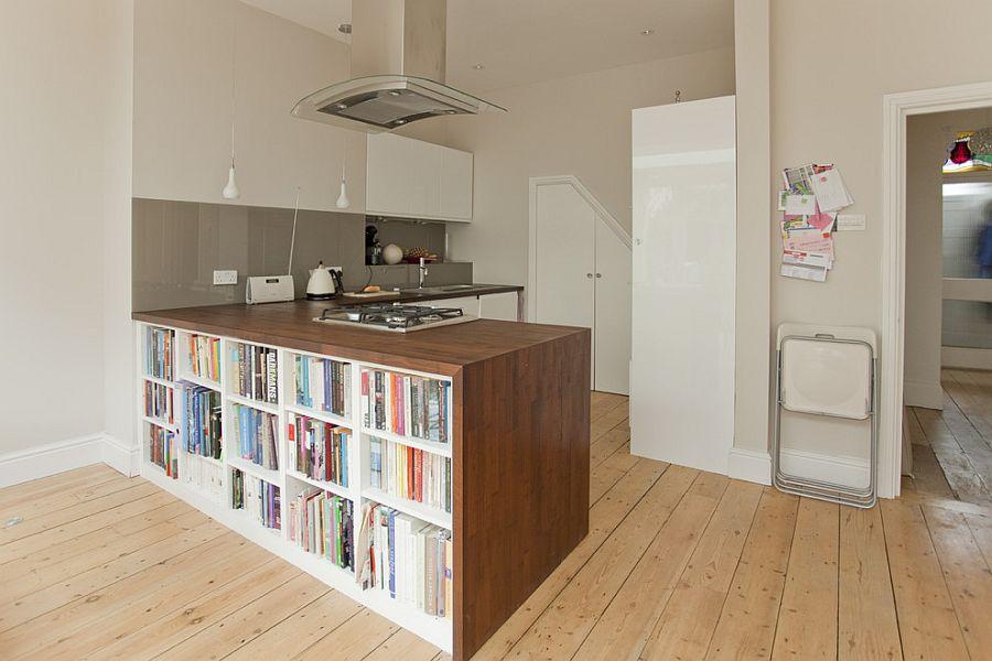 Стильный кухонный остров с открытыми полками в интерьере - Фото 10
