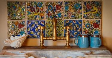 Уникальная раковина в античном стиле