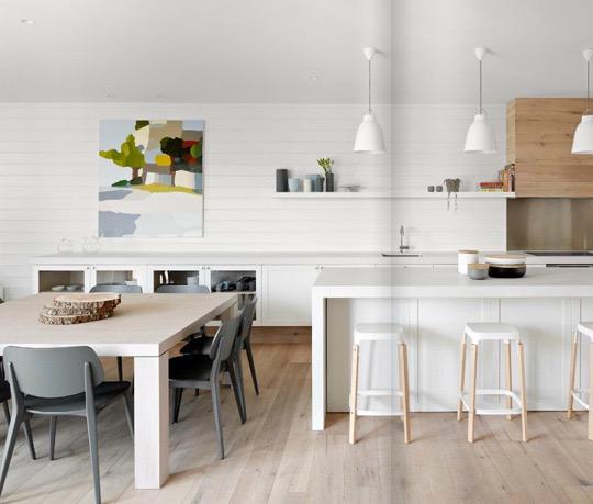 Дизайн светлой кухни в минималистичном стиле