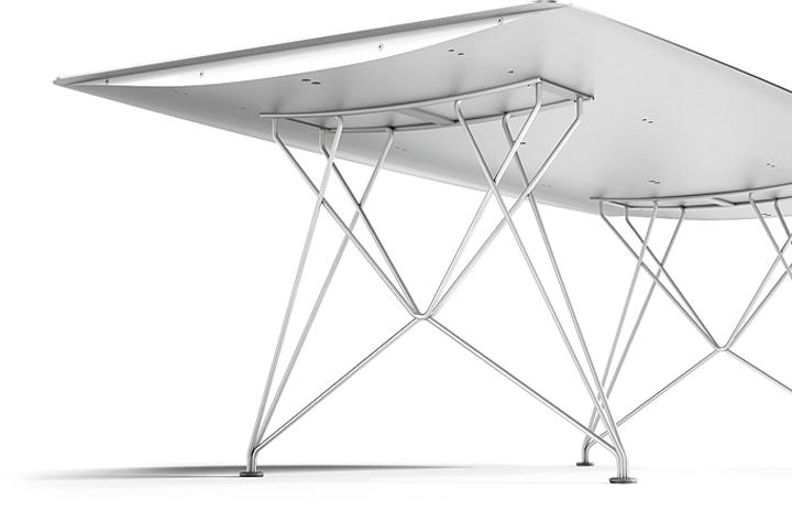 Алюминиевый обеденный стол Table B  от Konstantin Grcic