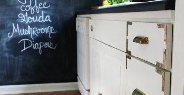 Золотая фурнитура в интерьере кухни