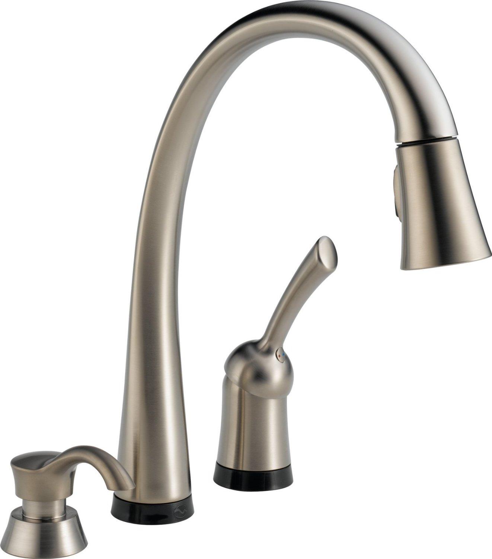 Сенсорный смеситель Delta Kitchen Faucets от Home Depot