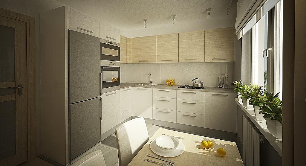 Дизайн кухни 9 квм квадратная