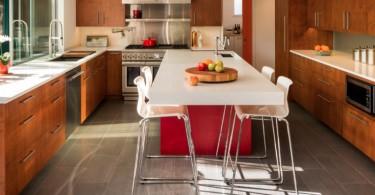 10 уникальных напольных покрытий для кухни