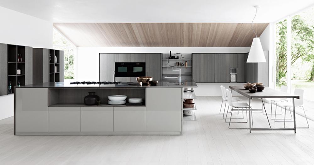 Современный дизайн стильной итальянской кухни Kalea от Cesar