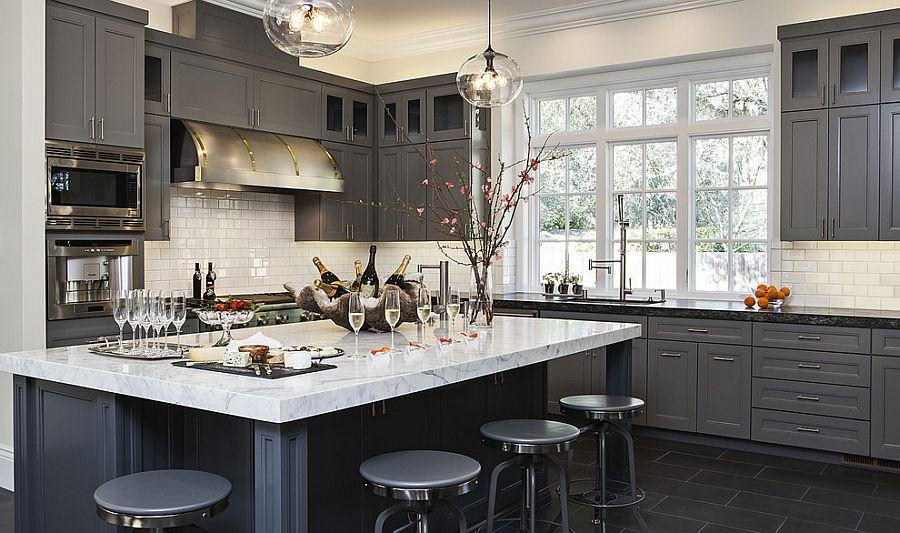 В какой цвет покрасить кухню: интерьер в сором цвете - Фото 1