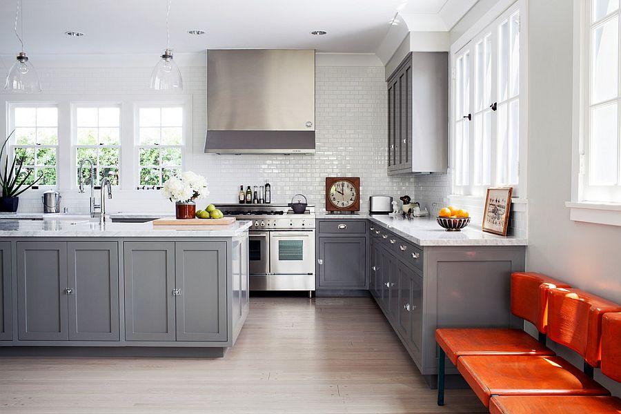 В какой цвет покрасить кухню: интерьер в сором цвете - Фото 2
