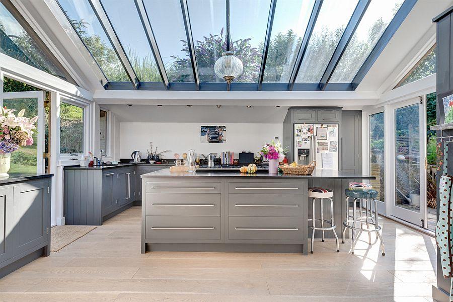 В какой цвет покрасить кухню: интерьер в сором цвете - Фото 5