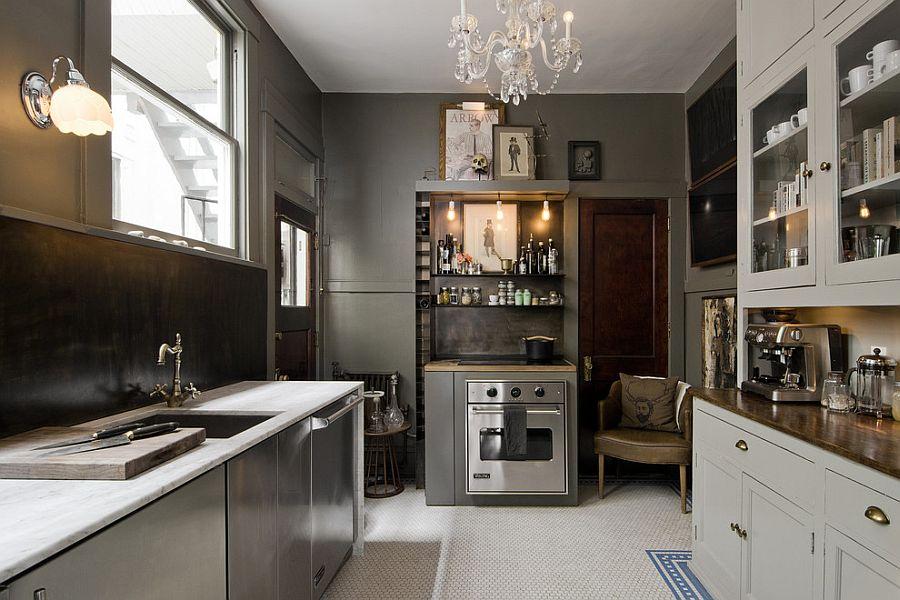 В какой цвет покрасить кухню: интерьер в сором цвете - Фото 6