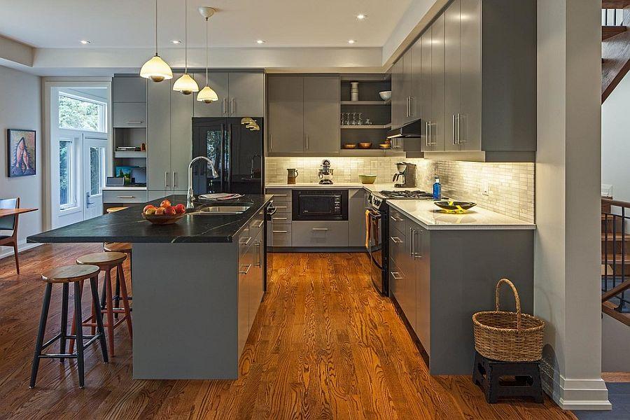 В какой цвет покрасить кухню: интерьер в сором цвете - Фото 8