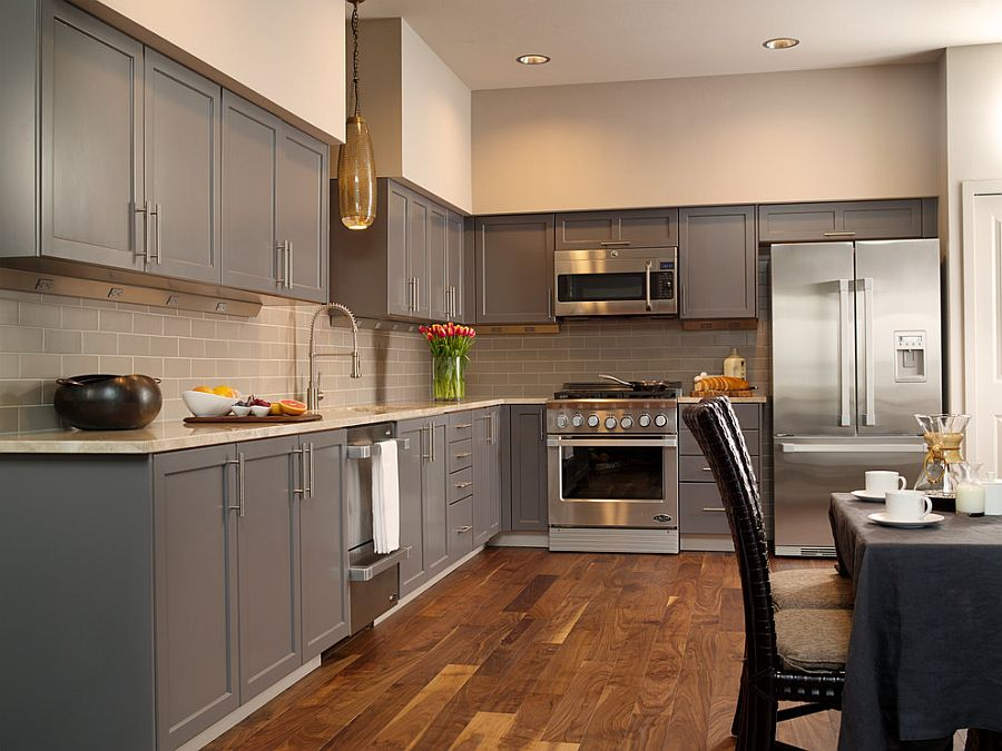 В какой цвет покрасить кухню: интерьер в сором цвете - Фото 10