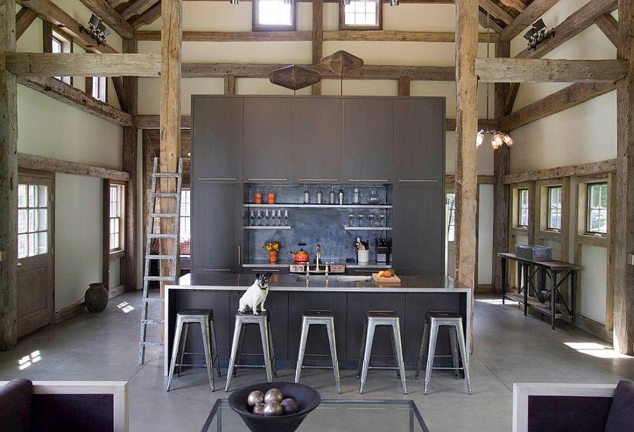 В какой цвет покрасить кухню: интерьер в сором цвете - Фото 13
