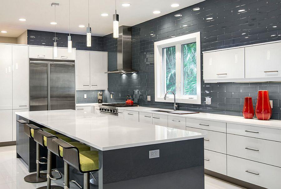 В какой цвет покрасить кухню: интерьер в сором цвете - Фото 14