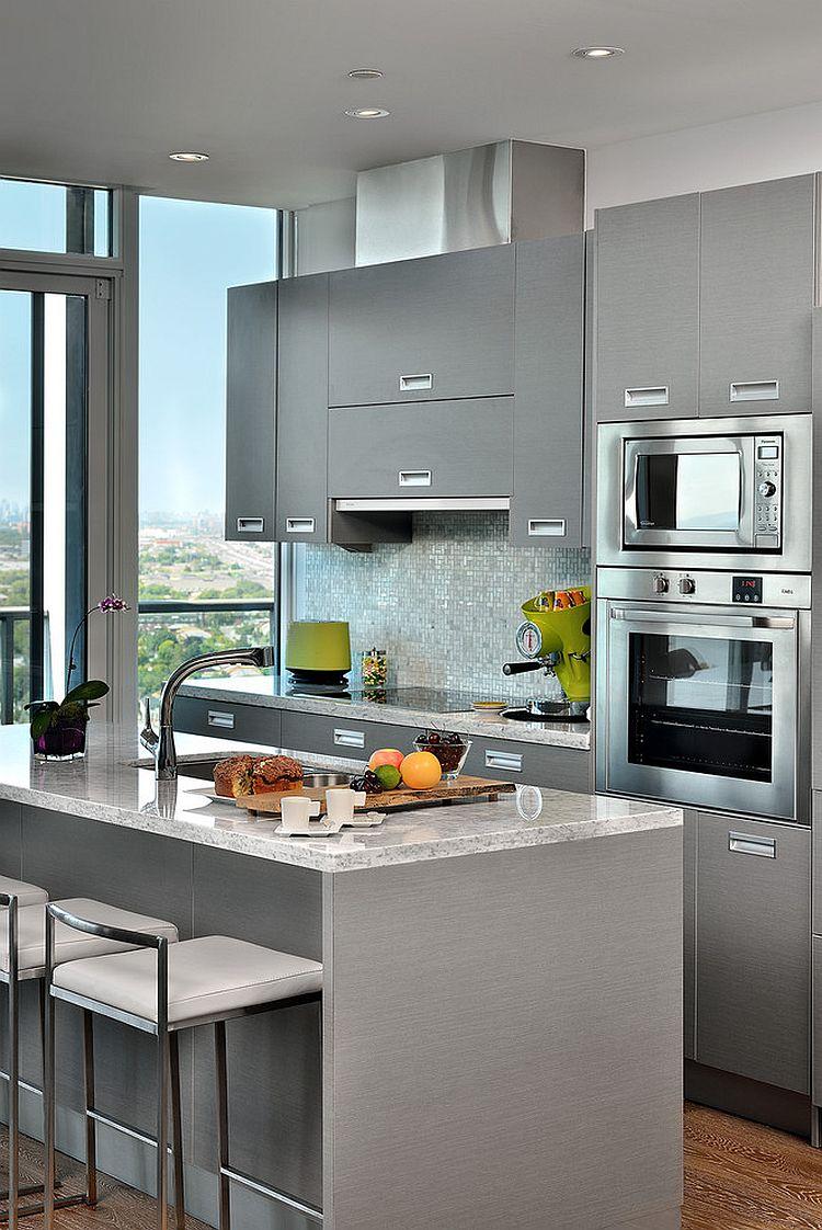 В какой цвет покрасить кухню: интерьер в сором цвете - Фото 16