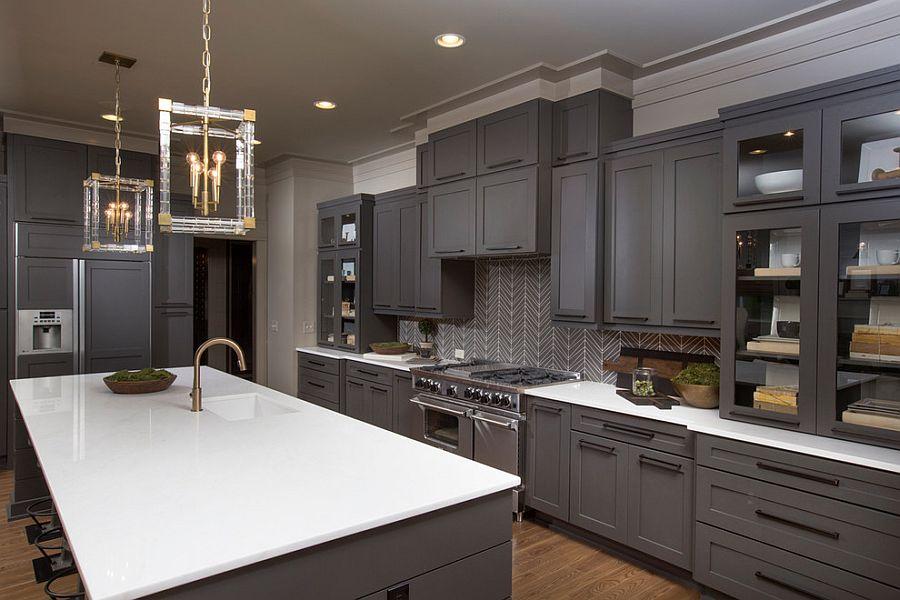 В какой цвет покрасить кухню: интерьер в сором цвете - Фото 18