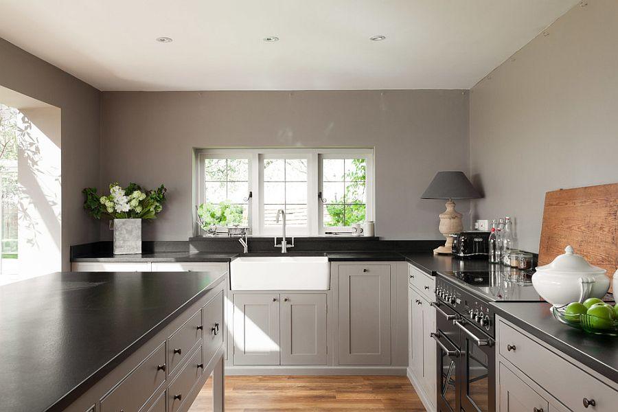 В какой цвет покрасить кухню: интерьер в сором цвете - Фото 19