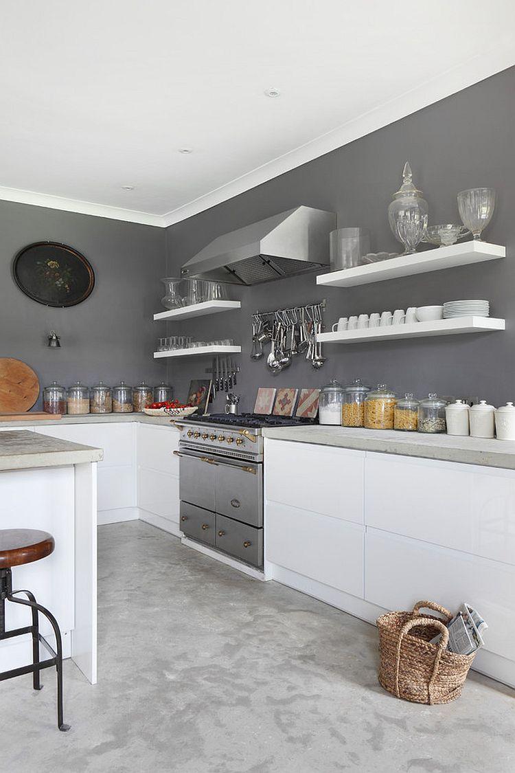 В какой цвет покрасить кухню: интерьер в сором цвете - Фото 21