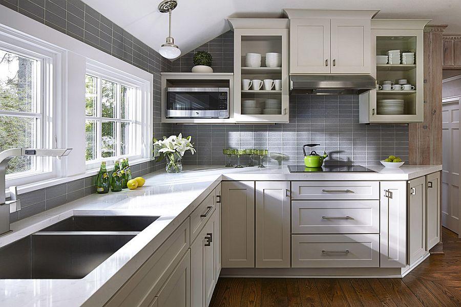 В какой цвет покрасить кухню: интерьер в сором цвете - Фото 22