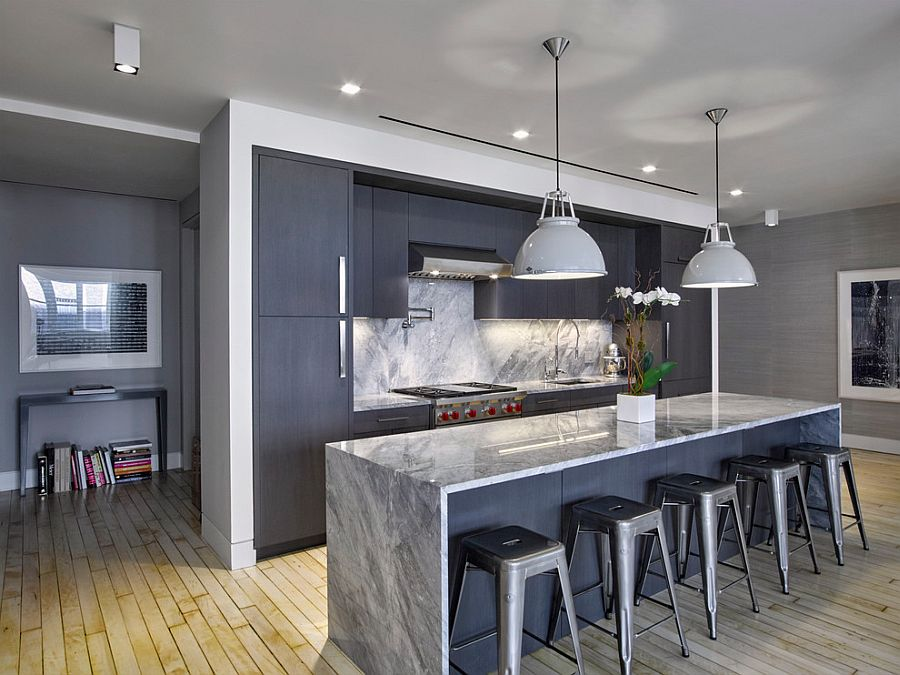 В какой цвет покрасить кухню: интерьер в сором цвете - Фото 23