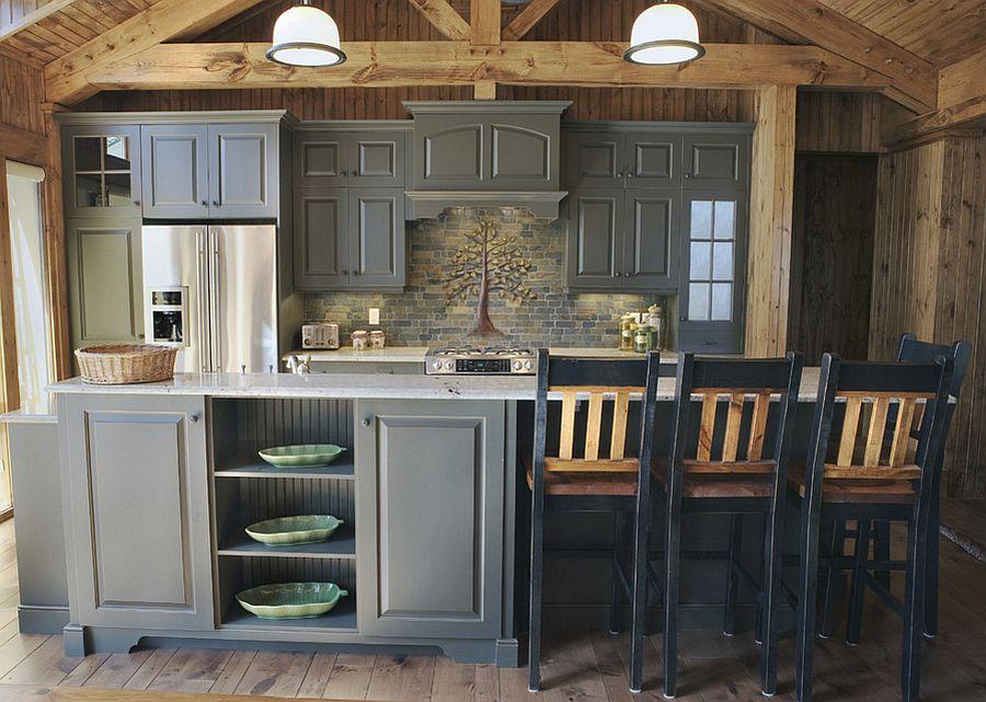 В какой цвет покрасить кухню: интерьер в сором цвете - Фото 24