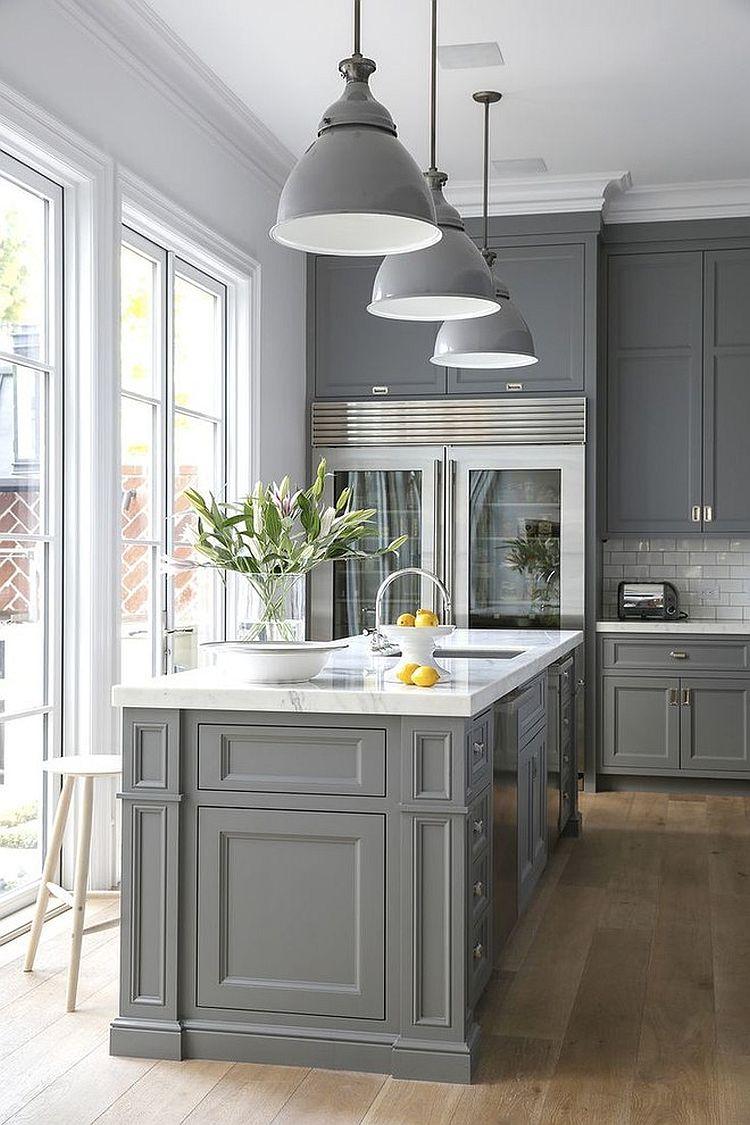 В какой цвет покрасить кухню: интерьер в сором цвете - Фото 25