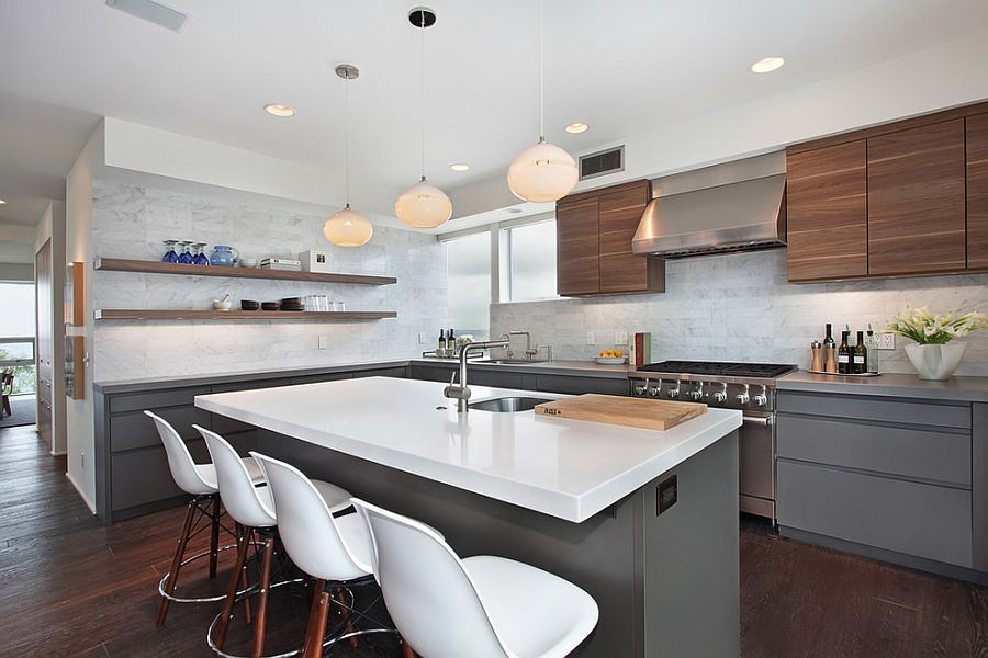 В какой цвет покрасить кухню: интерьер в сором цвете - Фото 26