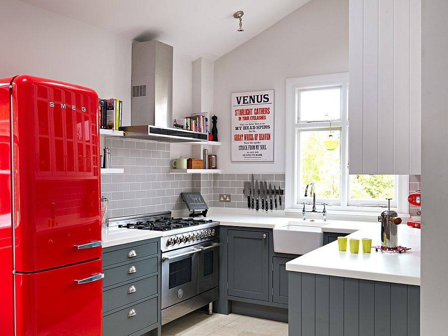 В какой цвет покрасить кухню: интерьер в сором цвете - Фото 27