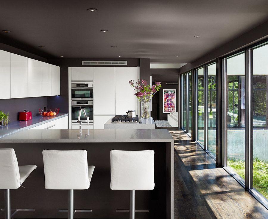 В какой цвет покрасить кухню: интерьер в сором цвете - Фото 28