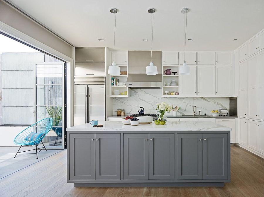 В какой цвет покрасить кухню: интерьер в сором цвете - Фото 29